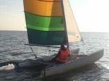 Katamaran segeln auf der Ostsee