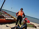Zufrieden und geschafft vom Katamaran segeln Ostsee