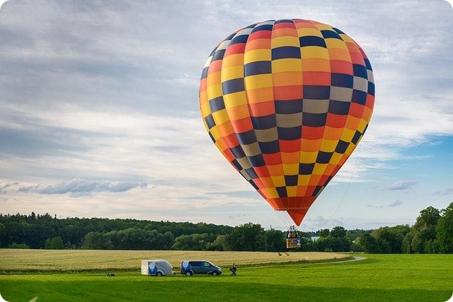 Ballon fahren an der Ostsee über Wismar