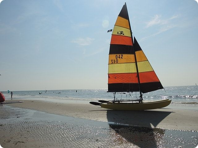 Hobie Cat 16 am Ostseestrand