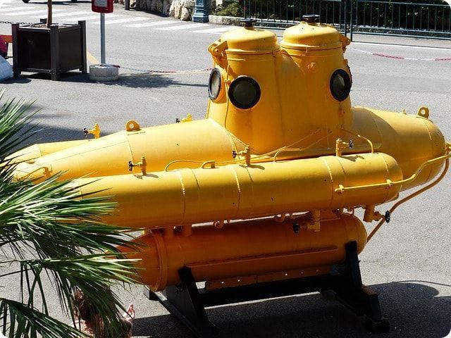 U-Boot fahren in der Nordsee
