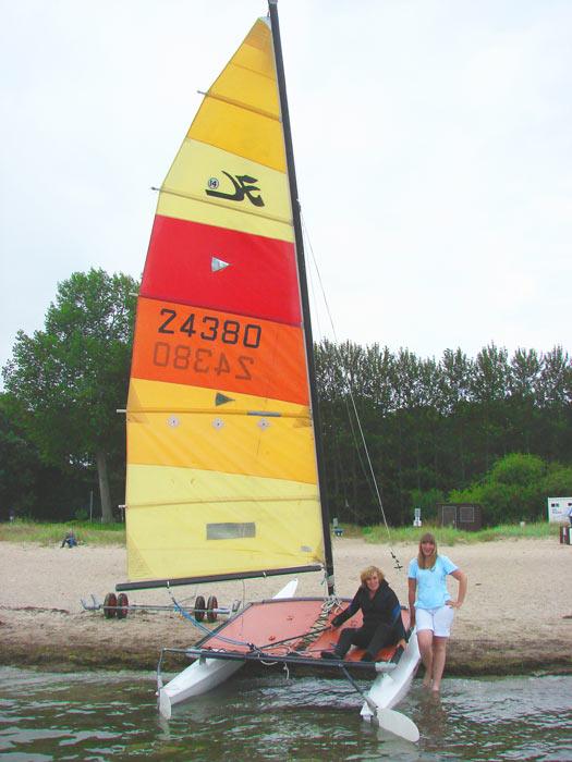 Katamaran Verleih, Katamaran mieten, Jollen mieten - Ostsee Insel Poel bei Wismar