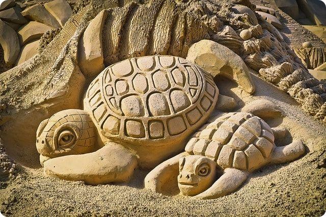 Sandburgenwettbewerb auf der Insel Poel