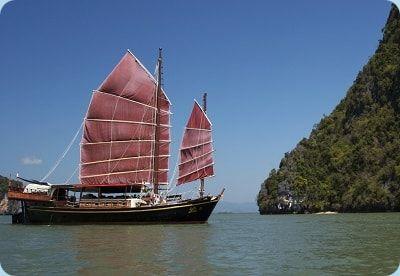 Die Dschunke das wichtigste chinesische Segelschiff