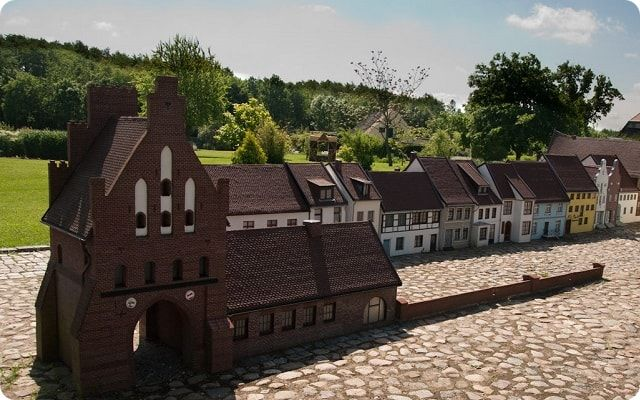 Ausflugsziele Mühlenteich und Miniaturstadt Wismar.