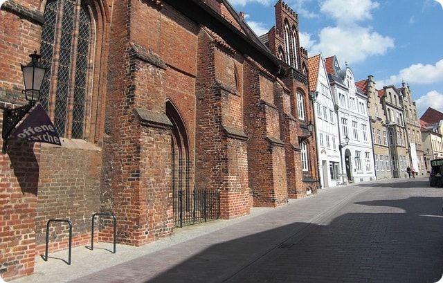 Die historische Altstadt von Wismar.