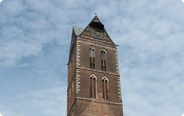 Marienkirchturm Wismarer Sehenswürdigkeit und Weltkulturerbe der Unesco.