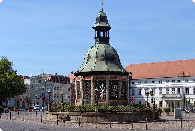 Wasserkunst Wismar Sehenswürdigkeiten Weltkulturerbe der Unesco.